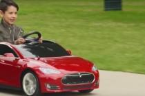 """特斯拉联合儿童玩具厂商推出""""迷你版""""Model S电动车"""