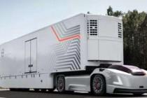 沃尔沃展示一款新型自动驾驶电动卡车,无驾驶室