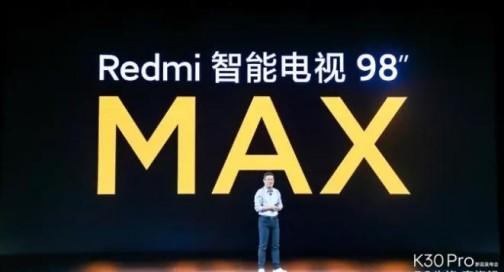 Redmi发布巨幕电视MAX98,极致性价比推动行业生变