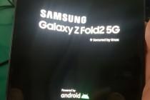 三星Galaxy Z Fold2 5G手机真机照曝光,无刘海外观硬朗