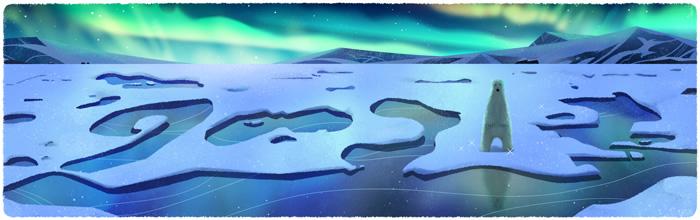 Google-Doodle-Earth-Day-Polar-Bear